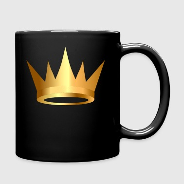 VIP Monarch golden royal crown King gold art - Full Color Mug