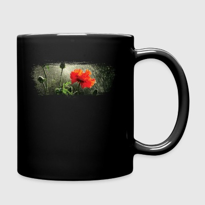 Poppies in the rain paint stroke - Full Color Mug