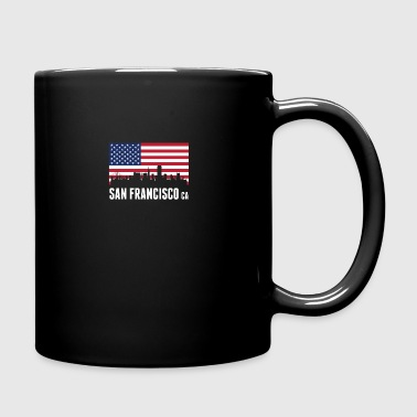American Flag San Francisco Skyline - Full Color Mug