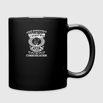 Never Underestimate Woman Majored Communication - Full Color Mug