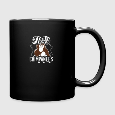 I Love Chimpanzees Shirt - Full Color Mug