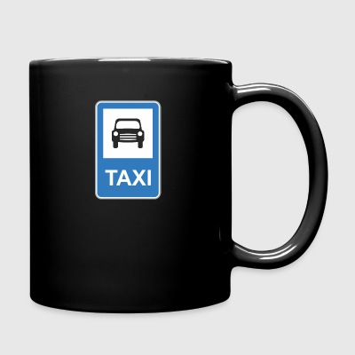 Road_sign_Taxi - Full Color Mug