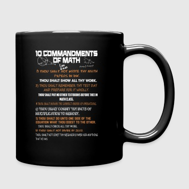 10 Commandments Of Math Shirt - Full Color Mug