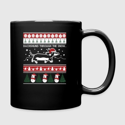 Dachshund Ugly Christmas Sweaters - Full Color Mug