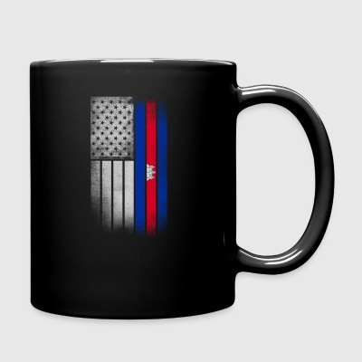 Cambodian American Flag - Full Color Mug