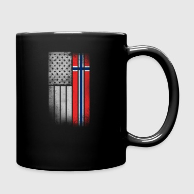 Norwegian American Flag - Full Color Mug