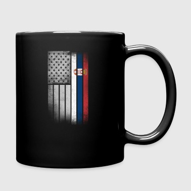 Serbian American Flag - Full Color Mug