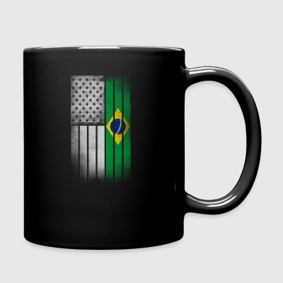 Brazilian American Flag - Full Color Mug