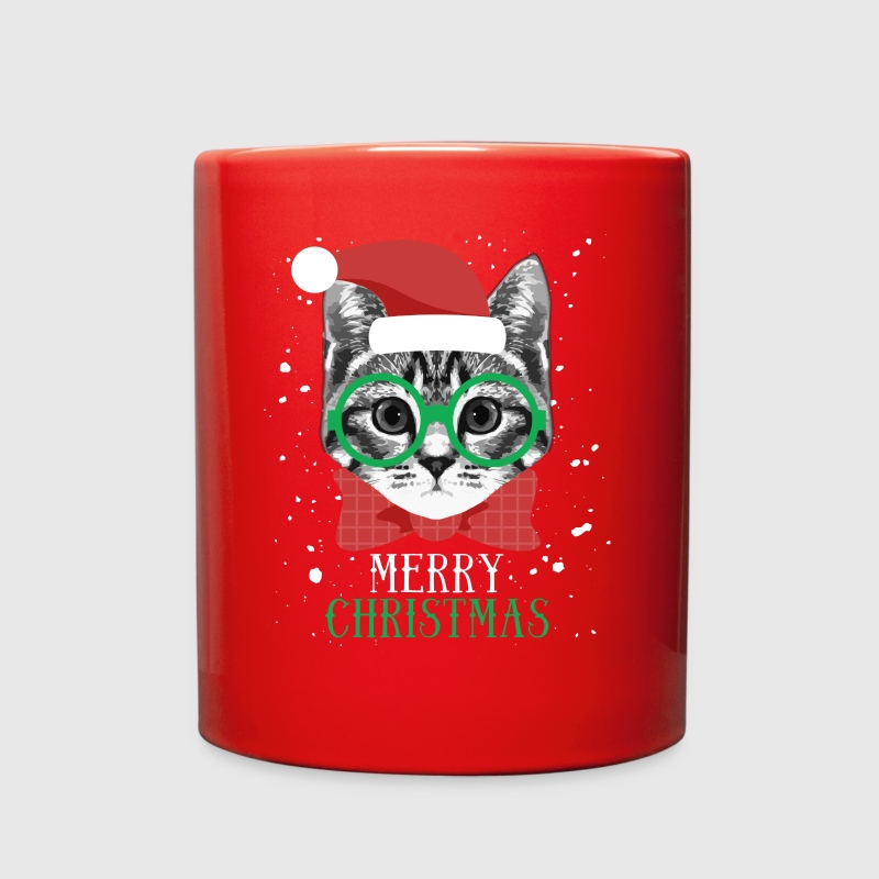 Merry Christmas Cat T-shirt - Full Color Mug