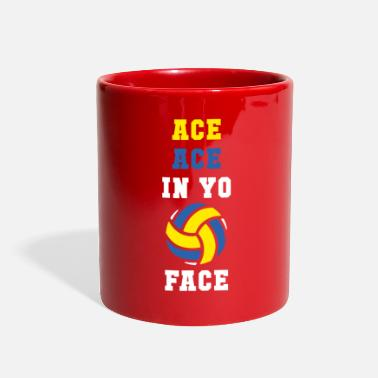 Face Ace ace in yo face Volleyball T Shirt - Full Color Mug