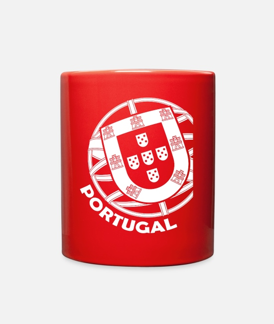 Shield Mugs & Cups - Portugal Coat of Arms - Full Color Mug red