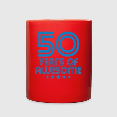 50 Years Of Awesome 50th Birthday - Full Color Mug