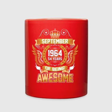 September 1964 54 Years Of Being Awesome - Full Color Mug