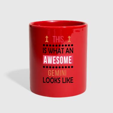 Gemini Zodiac Love Gift-Awesome Look-Funny Present - Full Color Mug