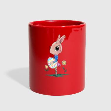 Sketched Easter Bunny, Cute Bunny Easter Bunny - Full Color Mug