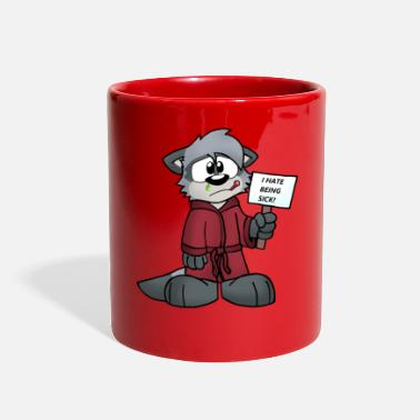 sick cartoon - Full Color Mug