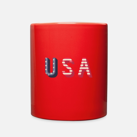 Love Mugs & Drinkware - usa - Full Color Mug red