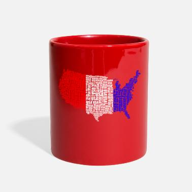 Usa Usa Usa Usa - Full Color Mug