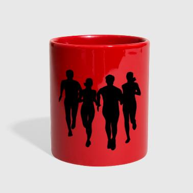 run, running - people running - Full Color Mug