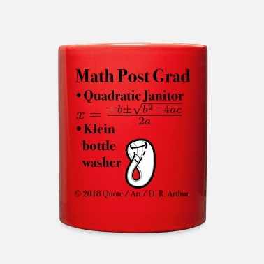 Quadrat ► Math Post Grad Quadratic Equation & Klein Bottle - Full Color Mug