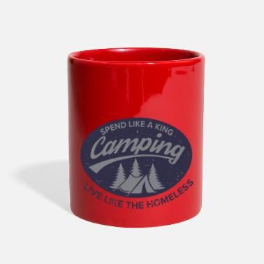 Irony Irony of Camping - Full Color Mug