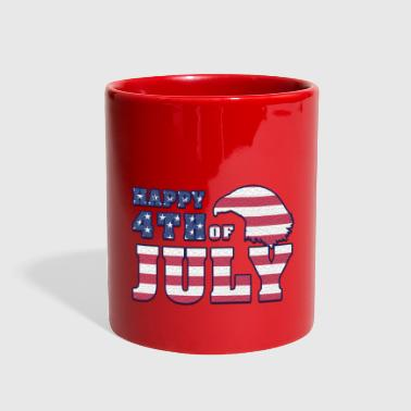 Happy Independence day 4th july USA - Full Color Mug