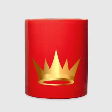 Crown VIP Monarch golden royal crown King gold art - Full Color Mug