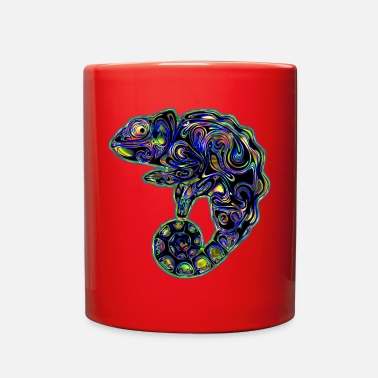Color Colorful Abstract Chameleon Rainbow Colors - Full Color Mug