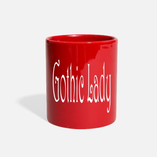 Gift Idea Mugs & Drinkware - Gothic Lady - Full Color Mug red