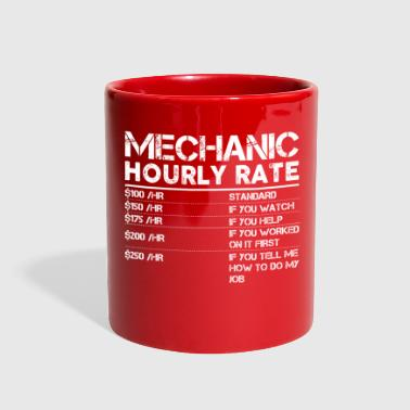 Funny Mechanic Hourly Rate Gift Shirt Labor Rates - Full Color Mug