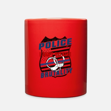 Police Abuse Police Brutality I cant Breathe Shield B - Full Color Mug