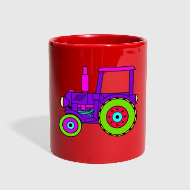 Toy toy tractor / toy tractor pink - Full Color Mug