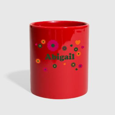 Abigail firstname name flower power hearts hippie - Full Color Mug