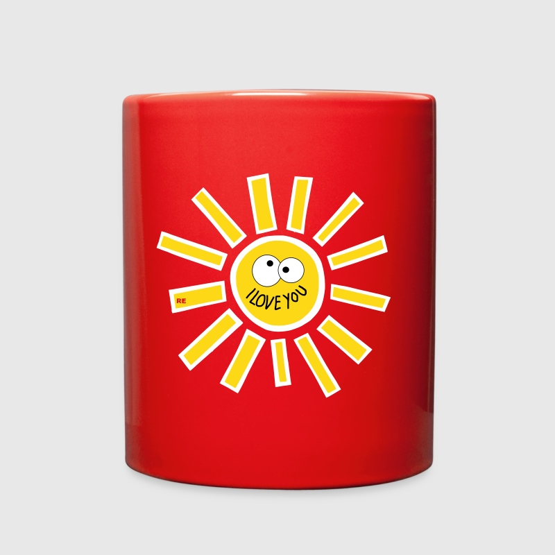 I love you Sun Fun Cupid - Full Color Mug