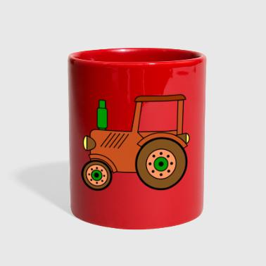 Toy brown toy tractor / toy tractor - Full Color Mug