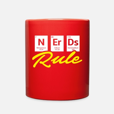 Chemistry Nerds Rule Chemistry - yellow - Full Color Mug