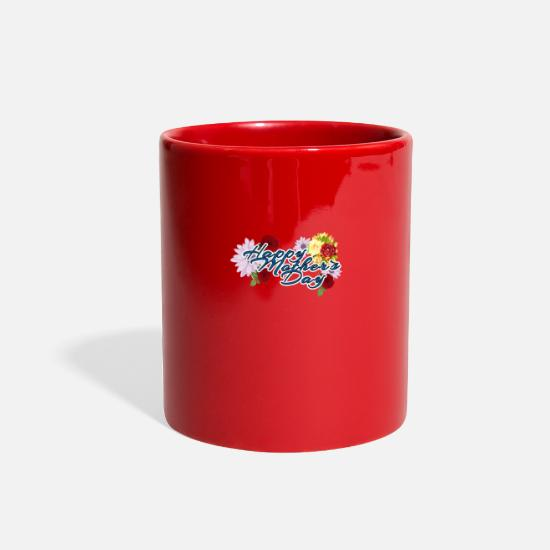 Mummy Mugs & Drinkware - Mother day - Full Color Mug red