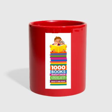 1000 Books Before Kindergarten Bookmark Design - Full Color Mug