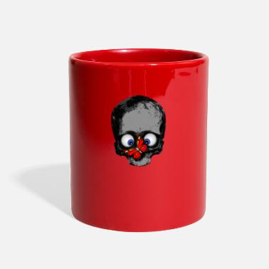 Red Nose skull with red butterfly on the nose - Full Color Mug