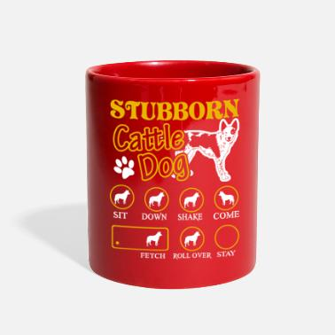 Cattle Stubborn Australian Cattle Dog Tricks Tee Shirt - Full Color Mug