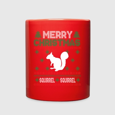 Cute Kids Squirrel Ugly Christmas Tshirt - Full Color Mug