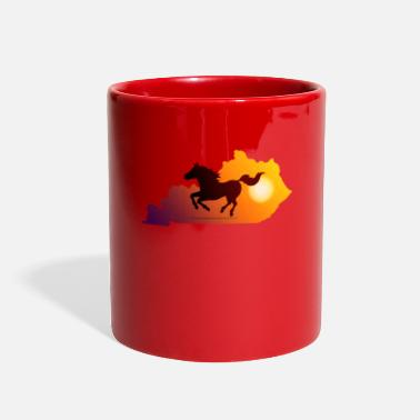 Gallop Horse Gallop in Sunset - Full Color Mug