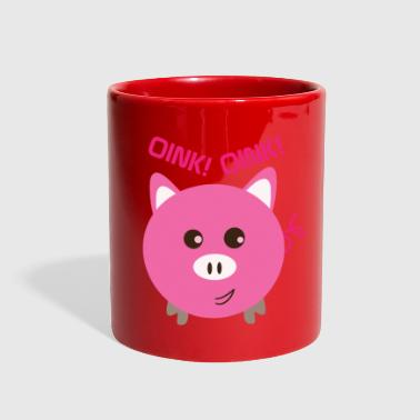 piggy bank oink oink. Piggy bank piggy pig piglets - Full Color Mug