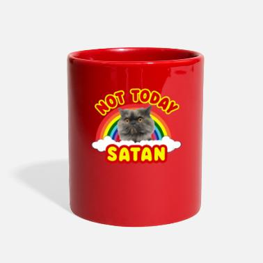 Beelzebub Funny Satan Cat Not Today Grumpy Death Metal Rainbow - Full Color Mug