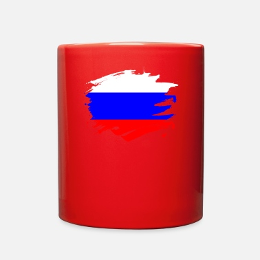 Russian Russia Paint Splatter Flag Russian Pride Design - Full Color Mug