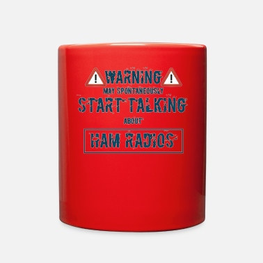 Radio Warning ham radio - Full Color Mug