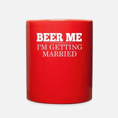 Groom BEER ME GROOM BRIDE WEDDING PARTY - Full Color Mug