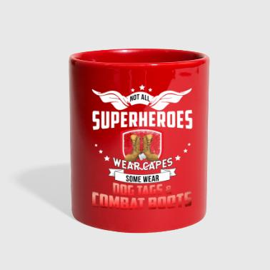 Combat Boots SUPERHEROES WEAR DOG TAGS AND COMBAT BOOTS - Full Color Mug