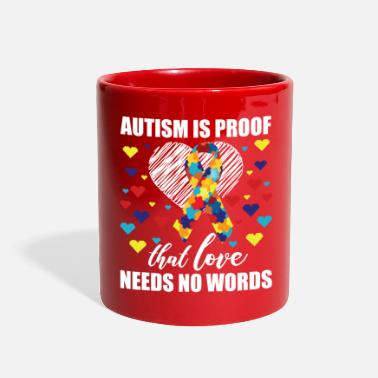 Autism Autism awareness day Shirt support autistic kids - Full Color Mug