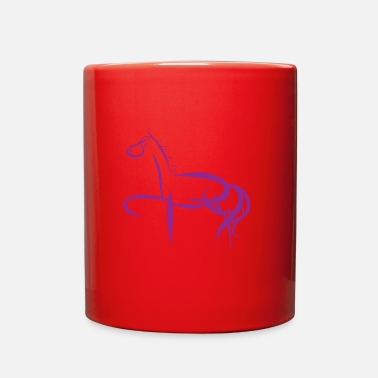 Horse Purple Silhouette Gift - Full Color Mug